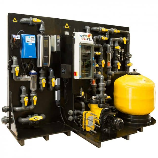 Pressurized Media Skid Filtration System for Swimming Pools & Waterparks